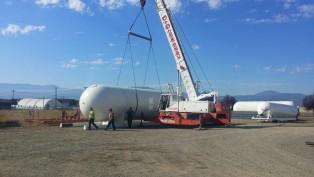 Crane unloading skid